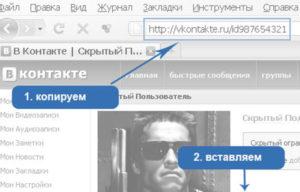 посмотреть скрытую страницу ВКонтакте